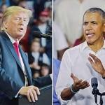 トランプ米大統領とオバマ前大統領