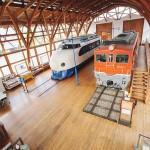 北館入り口正面に鎮座する0系新幹線とDF50型(ディーゼル車1号機)機関車