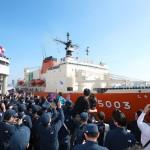 南極観測船「しらせ」が東京・晴海を出港