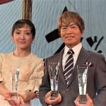 古谷徹氏と松澤千晶氏のツーショット。松澤氏は以前から古谷氏のファンであったという