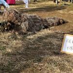 「平成最後の現地迷彩」と銘打たれたギリースーツのコスプレ。まさに今年見納めとなるコスプレだ