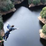 竜神大吊橋から新成人がバンジージャンプ