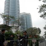 北朝鮮の金正恩朝鮮労働党委員長が宿泊するメリア・ハノイ・ホテル。周辺を立ち入り禁止にするなど厳戒態勢が敷かれてる