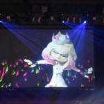 スプラトゥーンブースでは、ゲーム内の楽曲を演奏する「テンタライブ」に参加者達が熱狂