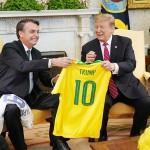 トランプ米大統領(右)とボルソナロ大統領