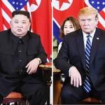 金正恩朝鮮労働党委員長(左)とトランプ米大統領