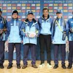 ラグビーW杯ボランティアのユニホームを発表