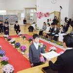 山木屋小の児童、8年ぶり地元で卒業式に臨む