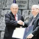 リブリン大統領(右)とネタニヤフ首相