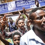 スーダンのデモ隊