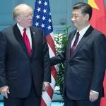 トランプ米大統領(左)と習近平国家主席