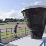 公開開始、64年東京五輪の聖火台を巡回展示