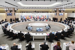 G20大阪サミット・セッション1ワーキングランチ