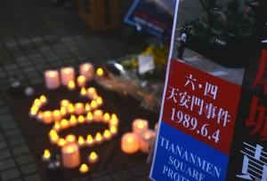 渋谷駅前で行われた追悼集会 =-4日午後、東京・JR渋谷駅前