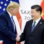 トランプ米大統領(左)と習近平中国国家主席