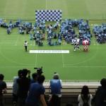 子供たちが人文字、東京五輪開幕へ「あと1年」