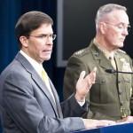 エスパー国防長官(左)とダンフォード統合参謀本部議長