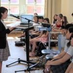 福島県出身の高校生9人が震災体験をスピーチ