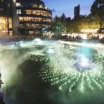 涼を届ける「光と霧のデジタルアート庭園」