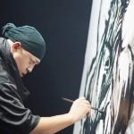 武人画アーティスト、こうじょう雅之氏が個展