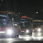 組織委と東京都、大型バス75台をテスト走行