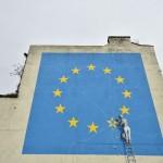 EU離脱を風刺したバンクシー作品、白塗りに
