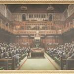 正体不明の芸術家バンクシーの「英議会」競売へ