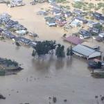 決壊した千曲川の堤防
