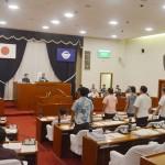 宜野湾市議会、定例会議で辺野古移設促進を可決