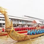 タイ国王の戴冠式で行う水上行列へ準備着々