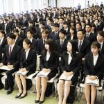 来春入社の大学生を対象に、企業が就職内定式