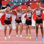 攻めた信頼のバトンパス、アジア新記録で銅