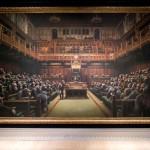 英芸術家バンクシーの絵画「英議会」が競売に