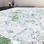 縦15m横24m、都心を1000分の1の巨大模型に