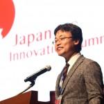 japan-USInnovationSummit2019で基調講演する渡瀬裕哉パシフィック・アライアンス総研所長=23日、都内で