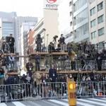 御即位パレードで待ち構える報道陣(20191110)