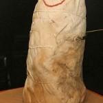 インカ帝国時代のミイラ包み。中には成人男性のミイラが納められている
