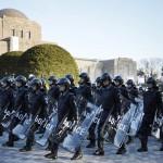 「首都に安全を」、警視庁が年頭部隊出動訓練