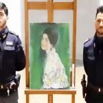 盗難のクリムトの絵画「婦人の肖像」を発見