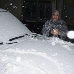一面の銀世界に、過去100年で2度目の積雪