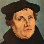 宗教改革者マルティン・ルターの肖像、ルーカス・クラナッハ作(Wikipediaから)