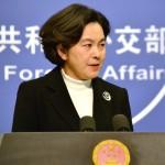 中国外務省の華春瑩報道局長=2019年10月、北京(時事)