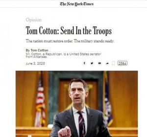 トム・コットン米上院議員がニューヨーク・タイムズ紙に寄稿した論考