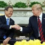 米韓首脳会談 ワシントンで2019年4月12日(韓国大統領府公式サイトから)