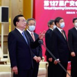 「広州貿易展示会」開会式で外国貿易の安定化を訴える李克強首相(2020年6月15日、中国政府公式サイトから)
