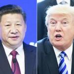 トランプ米大統領(右)と中国の習近平国家主席(AFP時事)