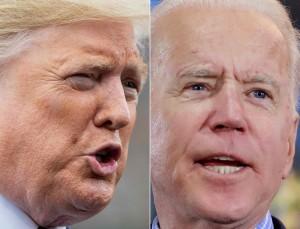 共和党のトランプ大統領(左)と民主党のバイデン前副大統領(AFP時事)