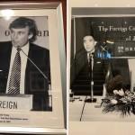 トランプ大統領、三島由紀夫の会見時の写真(日本外国特派員協会にて著者撮影)