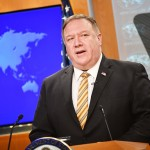 ポンペオ米国務長官=6月24日、ワシントン(AFP時事)
