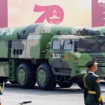 中国の弾道ミサイル「東風26」=2019年10月、北京(EPA時事)